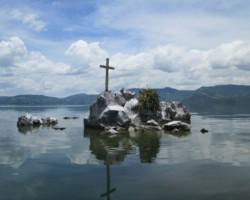 Center of Lake Ilopango